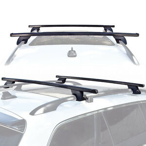 wagon suv universal roof rack cross bar rail pair car. Black Bedroom Furniture Sets. Home Design Ideas