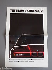 Sales Brochure: BMW Range 1990/1991 - Touring/3 & 5 Series/850