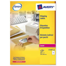 genuine avery laser labels 4 per a4 sheet l7169 100 ebay