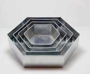 SET-OF-4-PIECE-HEXAGON-SHAPE-CAKE-BAKING-PANS-BY-EURO-TINS-6-034-8-034-10-034-12-034