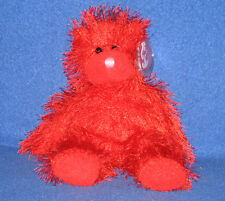 Sizzles 2002 Red Plush Ty Punky Punkies 9in Teddy Bear 3 up 0407