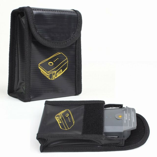 Explosion Proof Lipo Battery Bag Fireproof Fiber Pouch For Dji Mavic