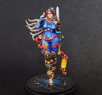 █ 30mm Resin KD Female Black Knight Squire Unpainted ONLY Figure WH065
