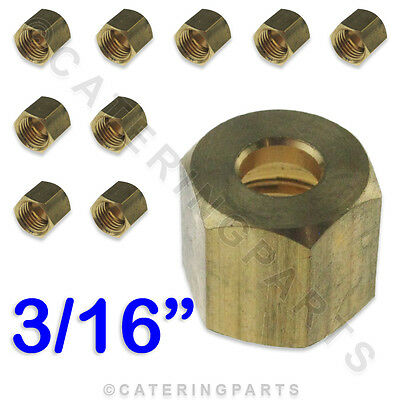 """PACK 10 x 1//4"""" CCT IMPERIAL BRASS NUT FOR GAS PILOT TUBE COPPER TUBING PIPES"""