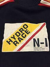 MENS RARE L NAUTICA HYDRO RACE N-1 USA SAILING GEAR COTTON SWEATER LARGE