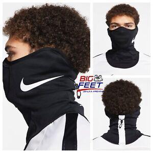 NIKE Strike Snood Face Mask / Black Training Running Scarf Gaiter Size Small/Med