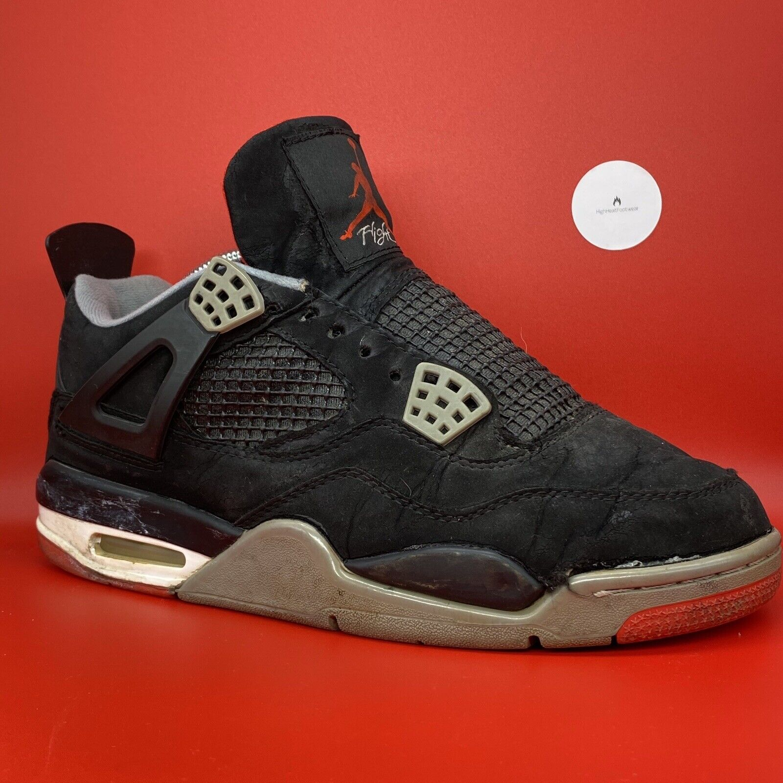 Nike air Jordan Retro 4 Bred Us9.5 Eminem Undefeated Cement