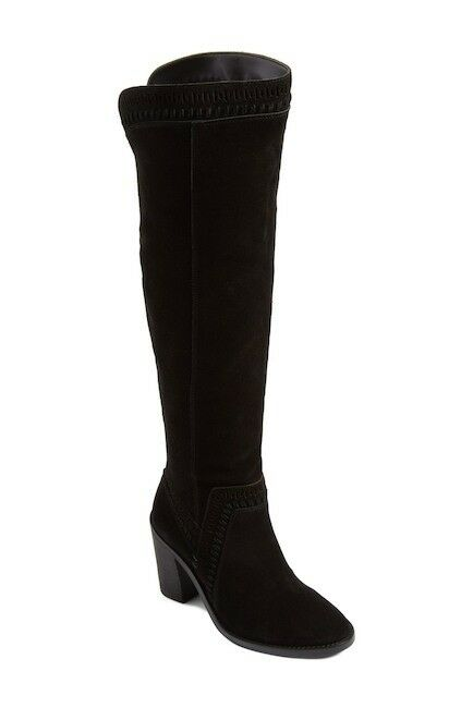 Vince Camuto boots Madolee Women's black suede over knee boots Camuto sz. 4 M 352810