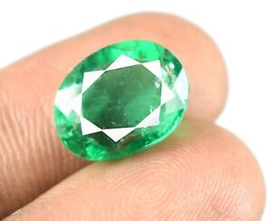 Oval Cut 6.60 Ct/13 mm Muzo Colombian Emerald Gemstone Natural Certified A27935