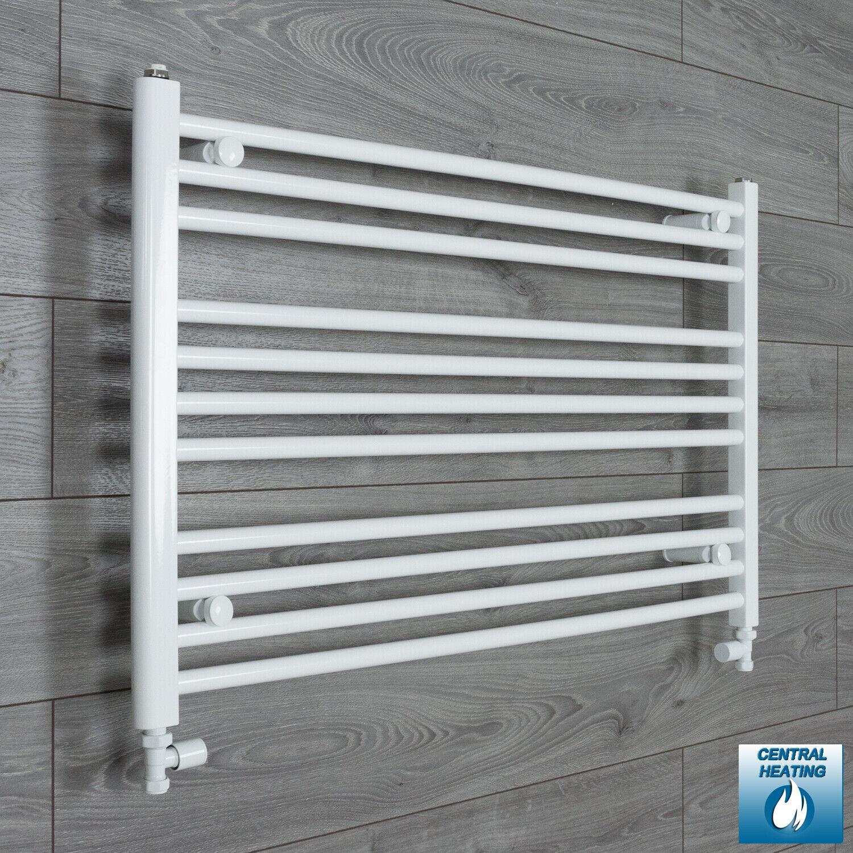 600 mm High Flat 1100 mm Wide blanco Heated Towel Rail Radiator Bathroom Kitchen