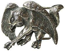FRONHOFER Gürtelschnalle Greifvogel silber, 4cm, Eagle Buckle, Schnalle Motiv