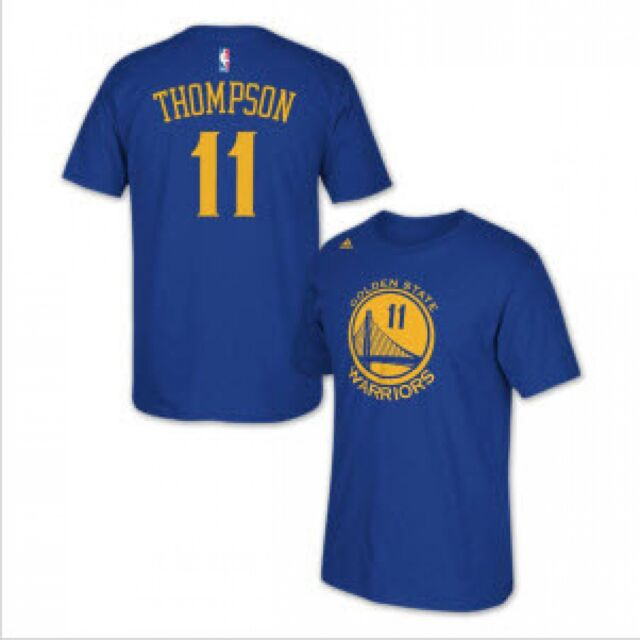 new style f3ed8 55cf4 NBA Golden State Warriors adidas Klay Thompson #11 Name and Number Tee  X-large