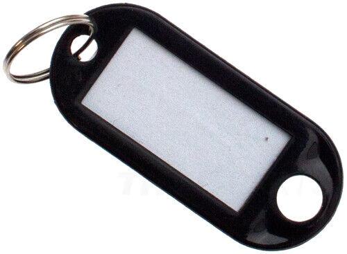 100 Stück Schlüsselschilder Schwarz Schlüsselanhänger zum Beschriften black