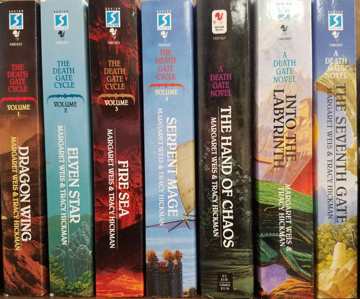 """Image for """"THE DEATH GATE CYCLE SERIES VOLUMES 1-7 MASS MARKET PAPERBACK NEW! by Weis, Margaret"""""""