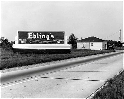 Ebling/'s  Beer Photo 8X10-1944 New York Billboard Buy Any 2 Get 1 Free