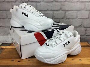 FILA-LADIES-UK-4-EU-37-5-PROVENENCE-WHITE-BLACK-CHUNKY-TRAINERS-LADIES-LG