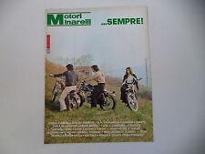 advertising Pubblicità 1974 MOTORI MINARELLI e MOTO LEGNANO/FANTIC CABALLERO 50