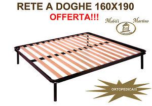 Rete Matrimoniale Doghe.Rete Matrimoniale Ortopedica A Doghe Di Faggio 160x190 Materasso