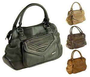 Large-Womens-Ladies-Lorenz-Real-Cowhide-Leather-Handbag-Organiser-Tote-Carry-Bag