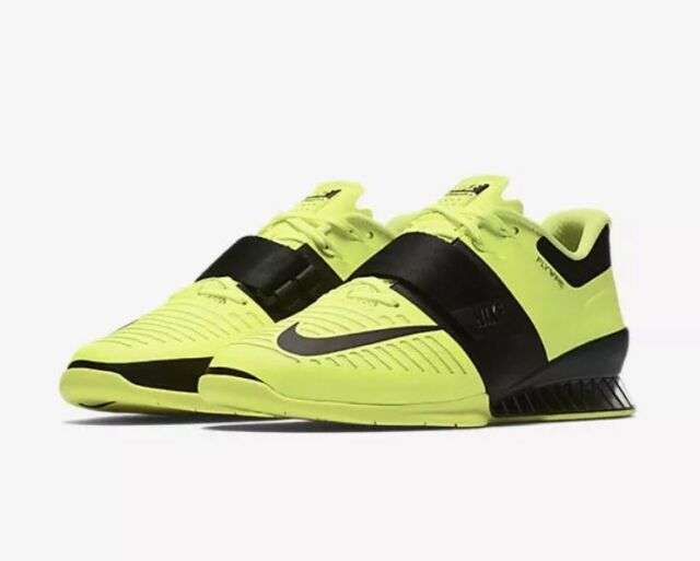 f0d0d0df1f10 Nike Romaleos 3 Volt Black Training Weightlifting Shoes (852933-700) Men SZ  12.5