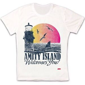 Amity-Island-Welcomes-You-Jaws-70s-Movie-Quints-Retro-Unisex-T-Shirt-2276