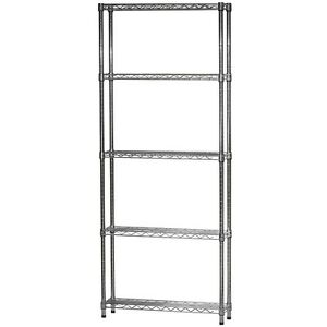 image is loading 8 034 d x 24 034 w chrome wire - Chrome Wire Shelving