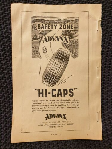 Advanx HiCaps 1954 Advertisement