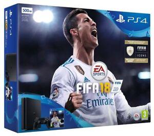 PS4-Slim-Nero-500-GB-Console-bundle-con-FIFA-18-NUOVO-spedizione-gratuita