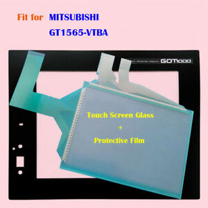For MITSUBISHI GT1565-VTBA Touch Screen Glass + Protective Film 1 Year Warranty