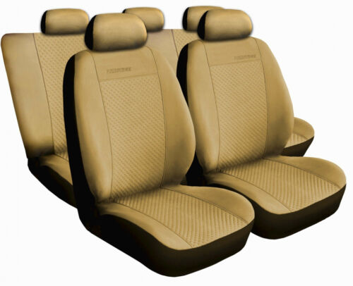 Autositzbezüge SET Schonbezüg Beige geeignet für VW Passat Touran Caddy UP Polo
