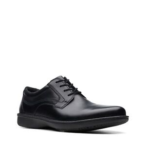 clarks wader pure men's black leather casual non slip