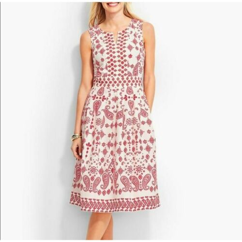 talbots embroidered dress - image 1
