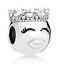 Pandora-Sterling-Silver-S925-Princess-Face-Smile-Charm-797143CZ-PANDORA-POUCH thumbnail 1