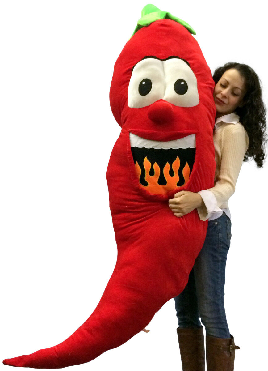 Big Plush Stuffed ROT Pepper 66 Inch Soft Giant Fruit Vegetable Huge Fun Plushie