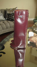 100% AUTHENTIC GIVENCHY SHARKLOCK PANT BOOTS BURGUNDY SIZE 37-7