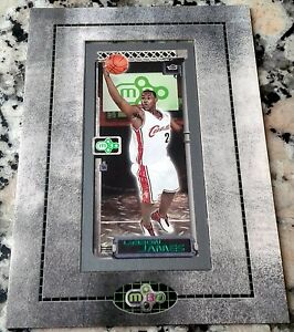 LEBRON-JAMES-2003-Topps-Matrix-Minis-Framed-1-Draft-Pick-Rookie-Card-RC-MVP