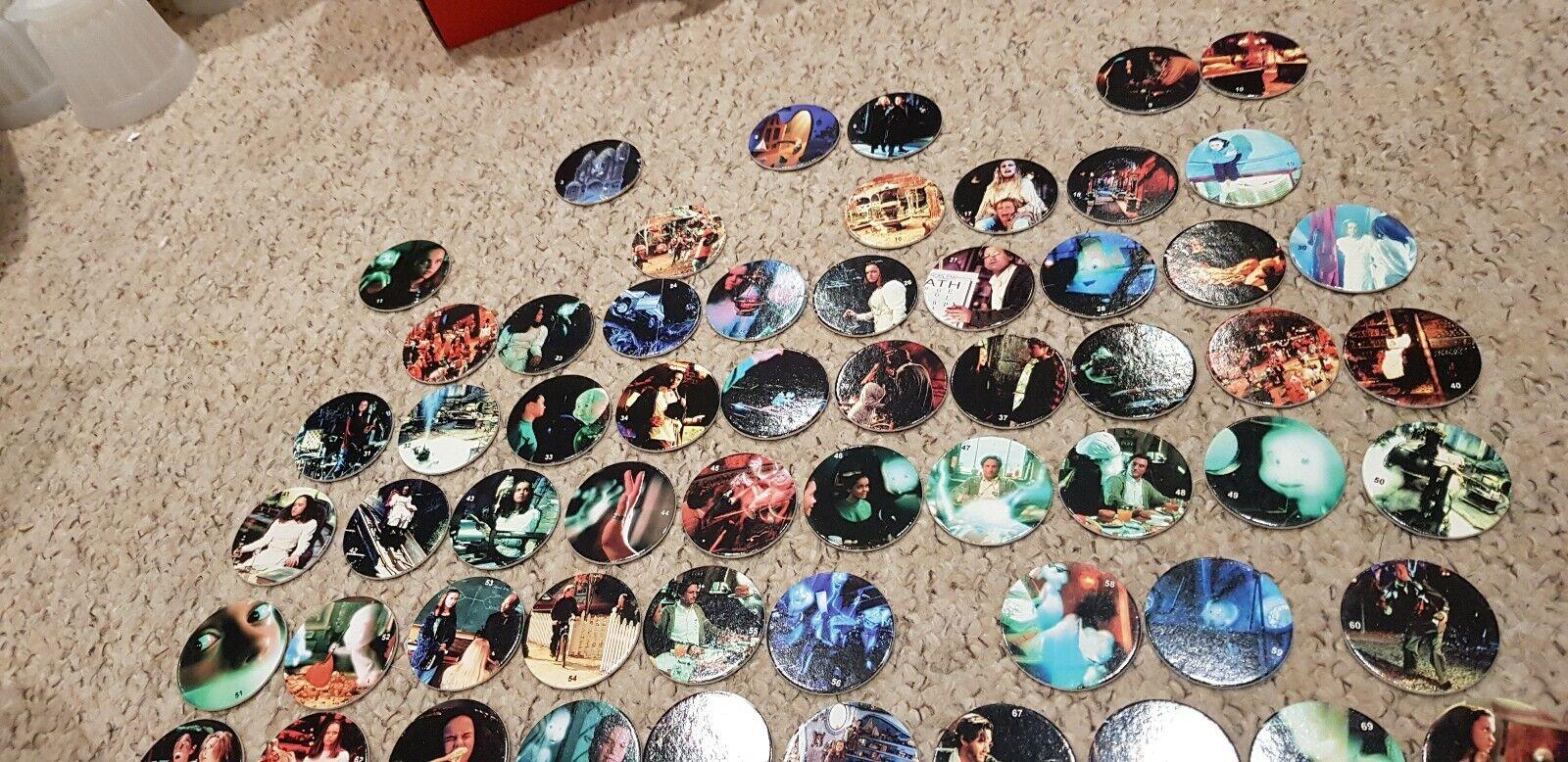 Partial set of 122 Casper caps pogs mainly new VERY RARE