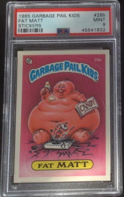 Garbage Pail Kids Chrome Series 1 Base Card 26b FAT MATT