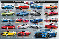 Chevrolet CAMARO EVOLUTION 1967-2017 19 Historic Sports Cars Wall Art POSTER