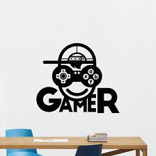 Gamer Wall Decal Video Game Vinyl Sticker Kids Gaming Decor Poster Mural 212crt
