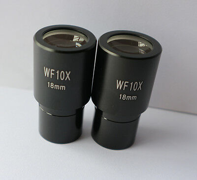 Microscope Eyepiece Lenses,WF10X//18mm Biological Microscope Wide Angle Hight Eye Piont Eyepiece Lens for Lab Microscopes
