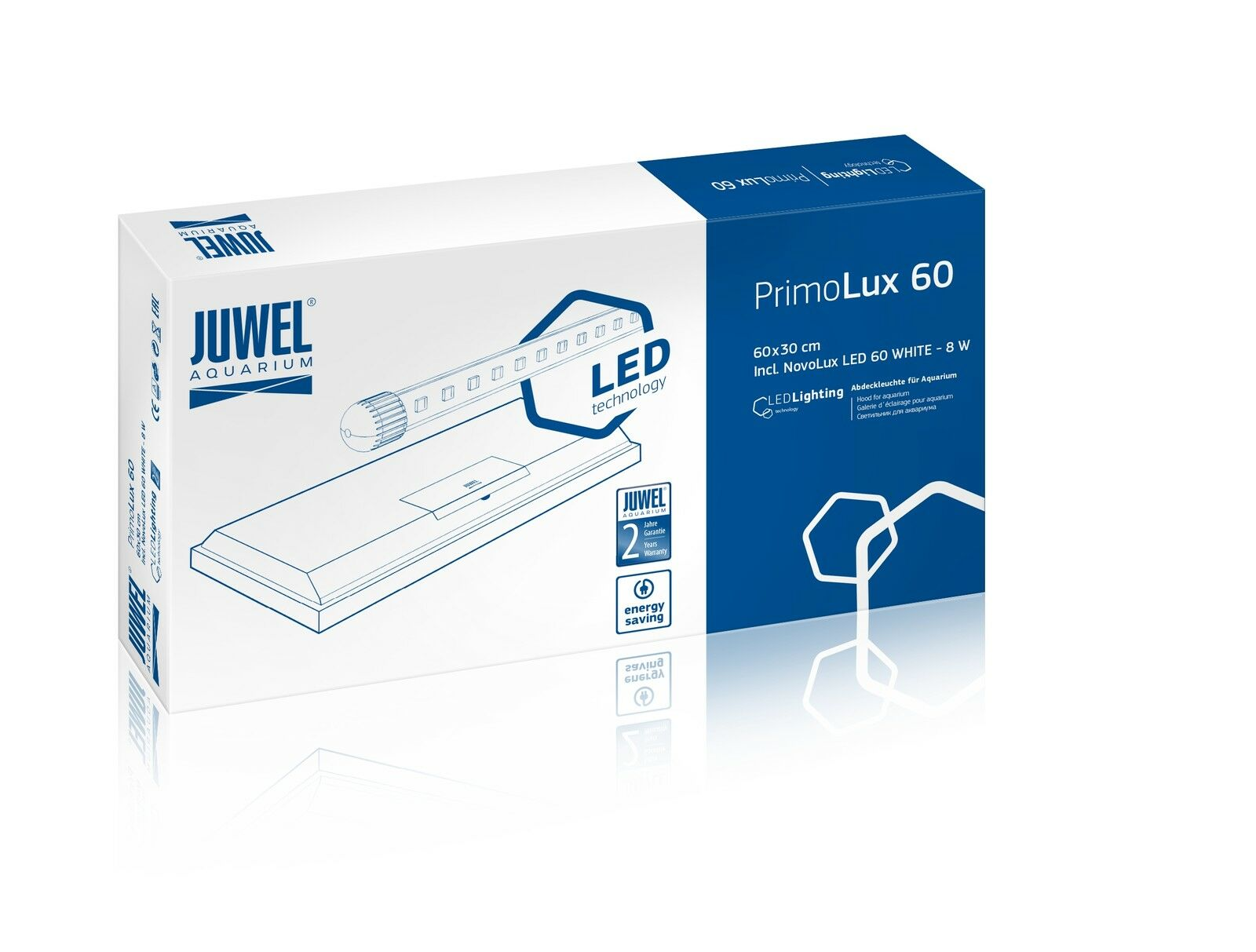 Juwel PrimoLux LED Aquarienabdeckung 60x30 schwarz Aquarium Abdeckung