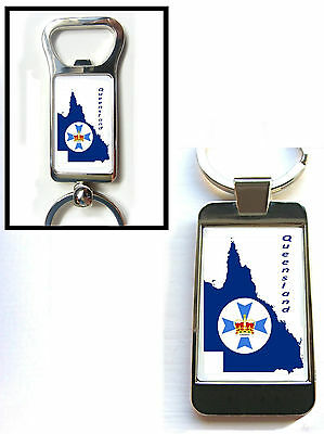 QUEENSLAND FIRE /& RESCUE BADGE KEY FOB KEYRING GIFT