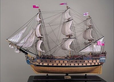 "HMS BELLONA 48"" wood model ship large scale sailing tall British boat"