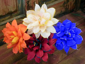 Mexican crepe paper flowers set of 4 bi color we make special orders image is loading mexican crepe paper flowers set of 4 bi mightylinksfo