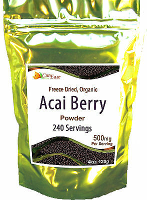 100% Pure ACAI Berry Perfect KOSHER Powder 240 Servings