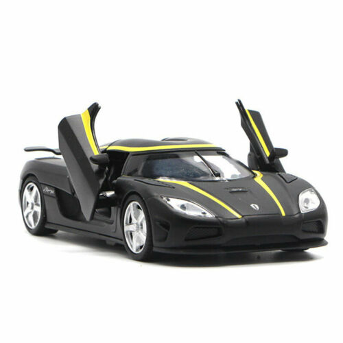 Koenigsegg Agera R 1//32 Model Car Collection Diecast Toy Vehicle Kids Gift Black