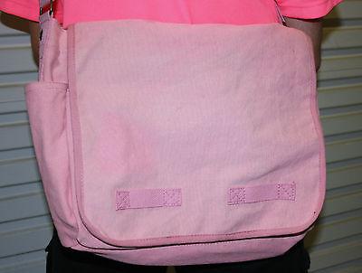 PINK or BLUE SHOULDER / MESSENGER BAG WITH SHOULDER STRAP & MANY COMPARTMENTS