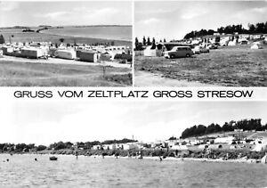 AK, Putbus Rügen, OT Groß Stresow, Zeltplatz, drei Abb., 1973