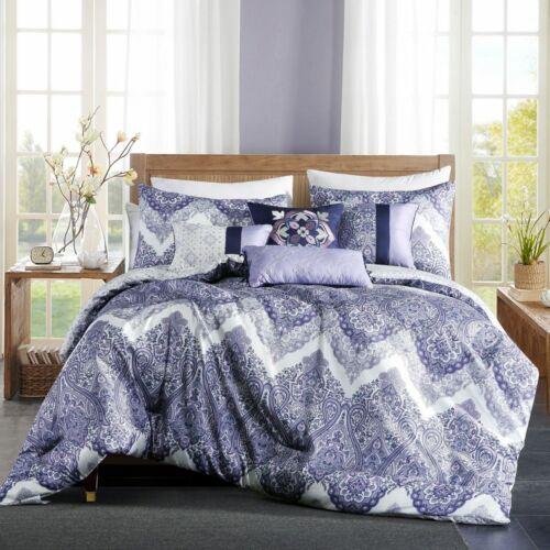 7 Piece Valda Purple//Lavender Comforter Set